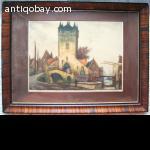 Alfred van Neste,  Print Painting Ets