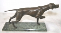 Bronze dog statue or paperweight