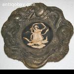 Chinese bronze display plate