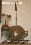 Old Indo Persian Mughal Armor Helmet Axe Maru
