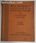 Precis Historique et Anthologie de la litterature Francaise