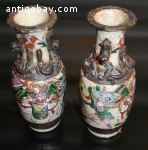 A set Rose Warriors Crackle Vase