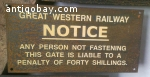 Vintage train/underground sign. 11