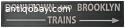 Vintage train/underground sign. 1
