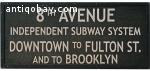 Vintage train/underground sign. 4