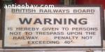 Vintage train/underground sign. 9